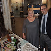 Our new Regional Swedish Consul Malou Monago and husband Fred are waiting for their cocktail, served by Ann.