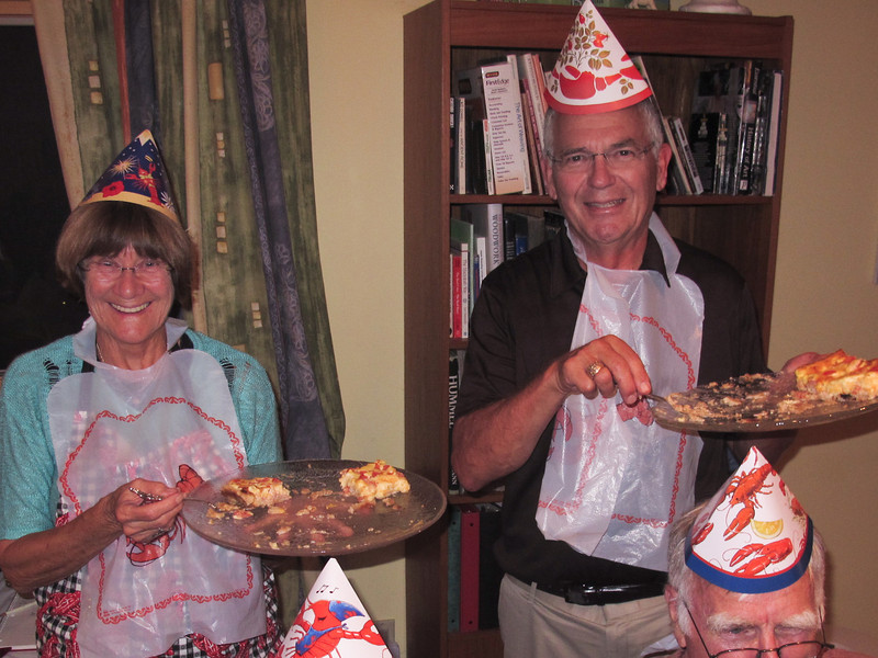 Our hosts, Gurli and Allan even served very tasty quiches for guests who are allergic to shellfish.