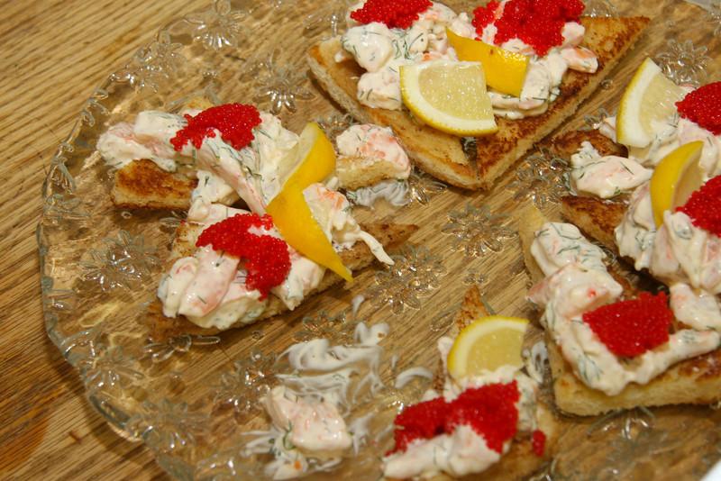 Toast Skagen--the best sandwich anywhere !