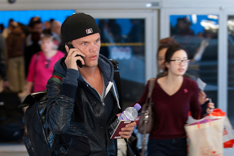 Swedish DJ AVICI seen in LAX