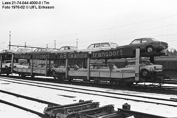 74 0444 000-0 .Laes in Tomteboda, Stockholm 1976-02