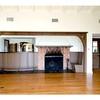 Franklin house, rumpus room fireplace & full bar
