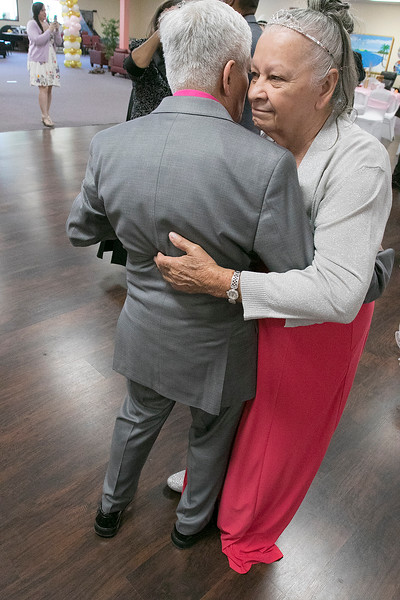 Active Life Adult Care Center in Fitchburg held a Sweet 15 Party on Friday morning for there members. Doing some dancing at the event is Maria Torres and her husband Jorge Piva. SENTINEL & ENTERPRISE/JOHN LOVE