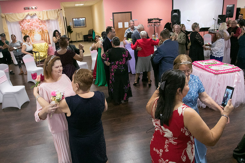 Active Life Adult Care Center in Fitchburg held a Sweet 15 Party on Friday morning for there members. Many took to the dance floor during the event. SENTINEL & ENTERPRISE/JOHN LOVE