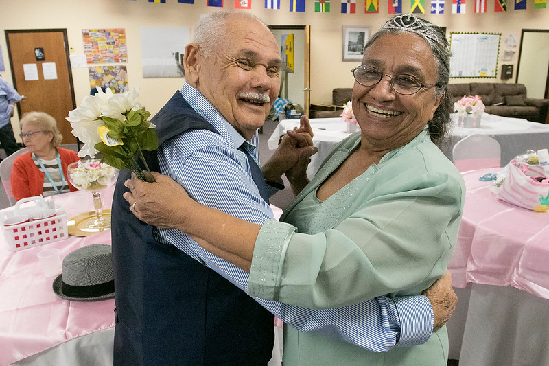Active Life Adult Care Center in Fitchburg held a Sweet 15 Party on Friday morning for there members. Doing some dancing at the event is Elba Lozada with Herminio Lozada. SENTINEL & ENTERPRISE/JOHN LOVE