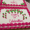 Active Life Adult Care Center in Fitchburg held a Sweet 15 Party on Friday morning for there members. the cake they had for the party. They had two cakes for the ladies at the event. SENTINEL & ENTERPRISE/JOHN LOVE