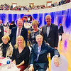 Front row, from left, Carol Duncan of Lowell, Alison Duncan of New York and George Duncan of Lowell; back row, UMass Lowell Vice Chancellor John Feudo of Littleton, and Chancellor Jacquie Moloney and Ed Moloney of Tewksbury