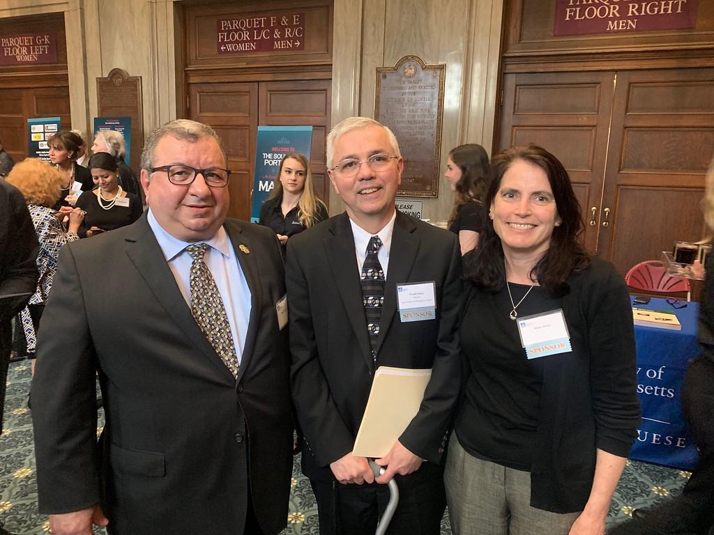 . From left, Dimas Espinola, and Frank and Diane Sousa, all of Rhode Island