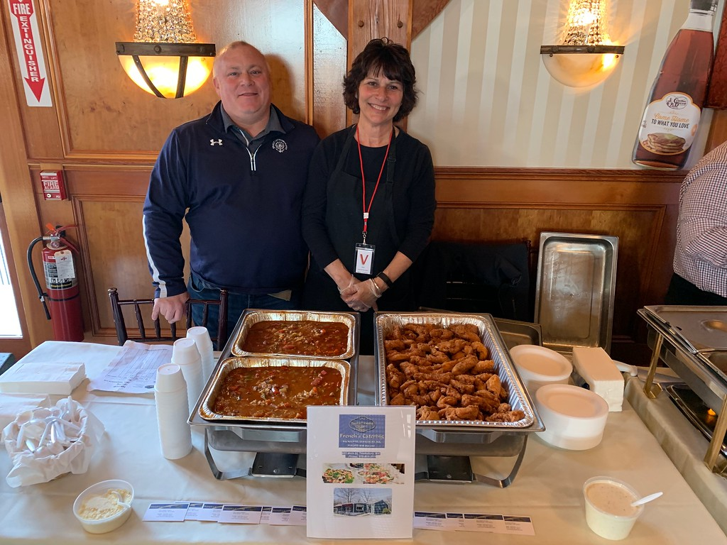 . Representing French�s Catering are owner Dave French of Dracut and Terri Woods of Wilmington