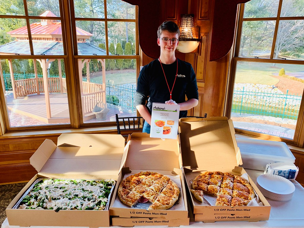 . Ben Froment of Tewksbury dishes a mean pizza from Anthony�s Roast Beef & Pizza