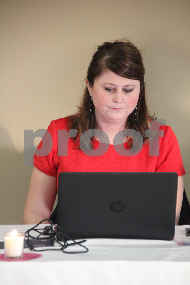 On Saturday, March 5, 2016, Starlite Village in Fort Dodge, hosted the Sweetheart Gala to raise money for the Heart Association. Seen pictured here is: Kayla Kovarna, executive director, of the event as she checks the attendees in.
