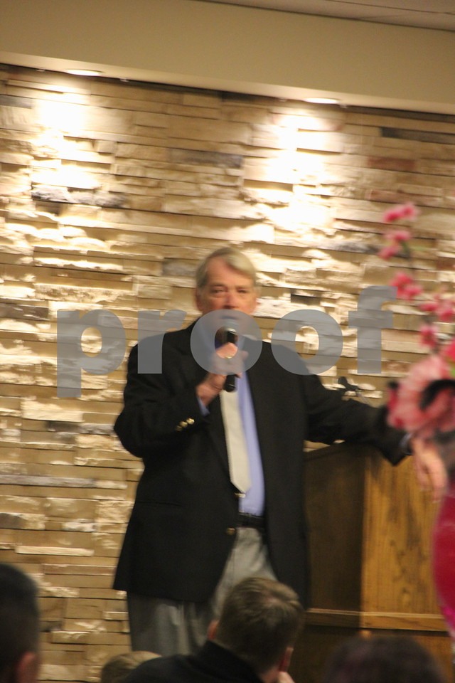 On Saturday, March 5, 2016, Starlite Village in Fort Dodge, hosted the Sweetheart Gala to raise money for the Heart Association. Pictured here is: Jim Bocken, the guest speaker, at the evening's event.