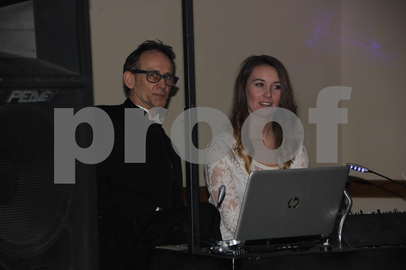 On Saturday, March 5, 2016, Starlite Village in Fort Dodge, hosted the Sweetheart Gala to raise money for the Heart Association. Seen here left to right is: Dean Vinchattle and Erica Nordin, who DJ'd  for the evening event.