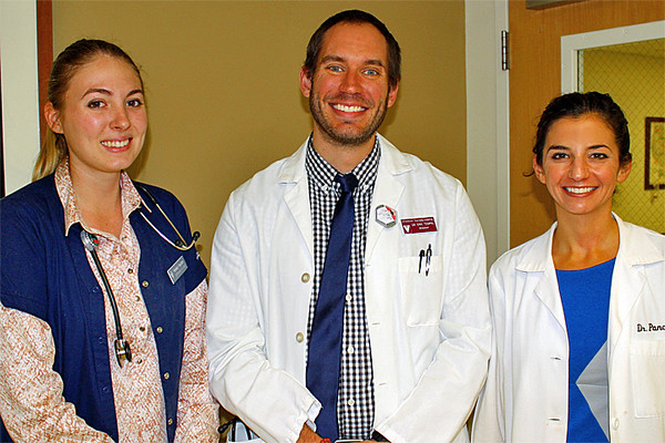 Meet our extremely talented Veterinary Care Team! Kelsey, Eric and Theresa