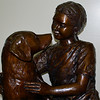 One of the statues inside the hospital