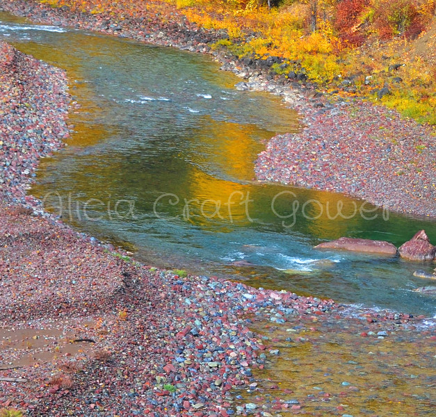 River Rock in the Fall
