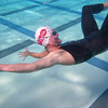 How NOT to do a streamline dolphin kick off the wall in a backstroke race!