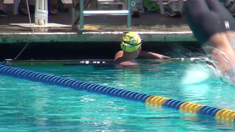 Chloe Sutton Finish and Getting out of The Pool
