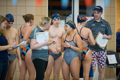 2018 - Macalester College Swimming hosts Dual Meet with Grinnell  -- Copyright Christopher Mitchell / SportShotPhoto.com