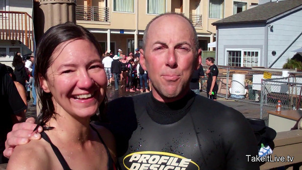 Seneca and Greg from boulder, CO - 2011 Tiburon Mile