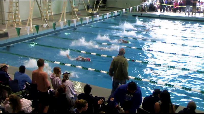 Women's 100yd freestyle Heat 15 - 2012 Southern California Swimming Junior Olympics