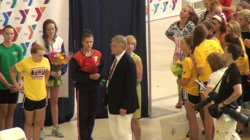 Women's 200 Backstroke Awards - 2012 YMCA LC National Championships