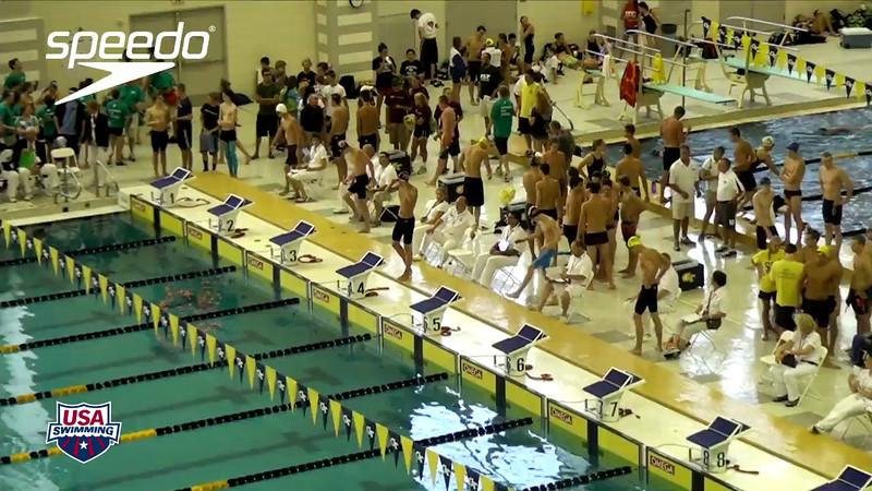 Men's 200 Backstroke Heat Final A - 2012 YMCA LC National Championships