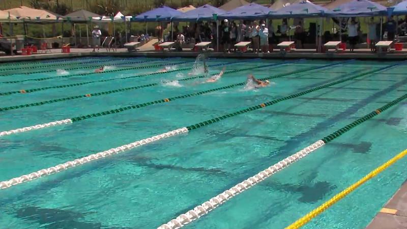 Men's 200m Backstroke Heat 04 - 2012 California/Nevada Gold Sectional Championship