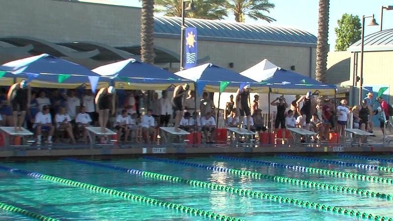 Women's 100m Freestyle Heat Final B - 2012 California/Nevada Gold Sectional Championship