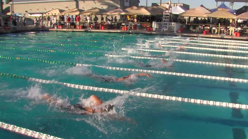 Women's 100m Freestyle Heat Final D - 2012 California/Nevada Gold Sectional Championship