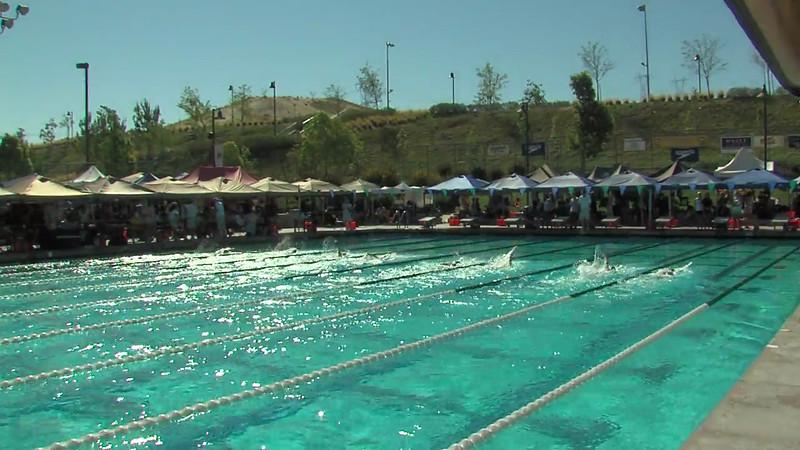 Women's 100 Backstroke Heat 14 - 2012 California/Nevada Gold Sectional Championship