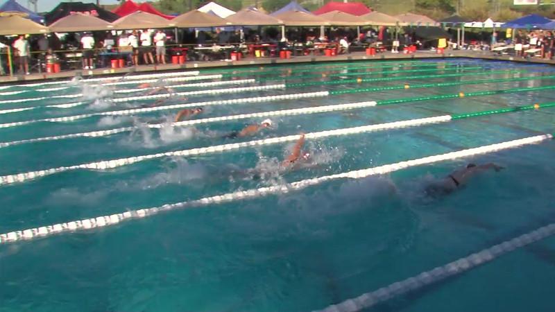 Women's 100m Freestyle Heat Final C - 2012 California/Nevada Gold Sectional Championship