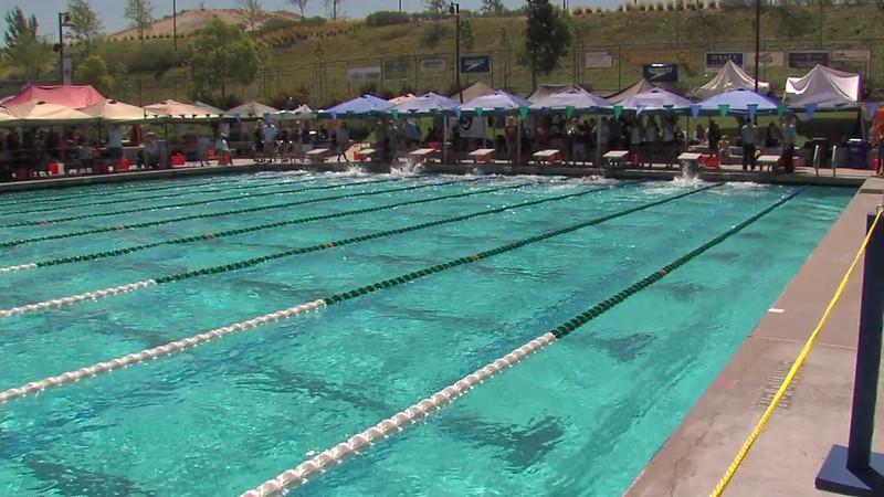 Women's 100m Freestyle Heat 02 - 2012 California/Nevada Gold Sectional Championship