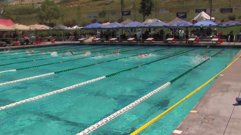 Men's 200m Backstroke Heat 01 - 2012 California/Nevada Gold Sectional Championship