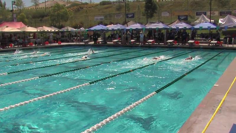 Men's 200m Backstroke Heat 05 - 2012 California/Nevada Gold Sectional Championship