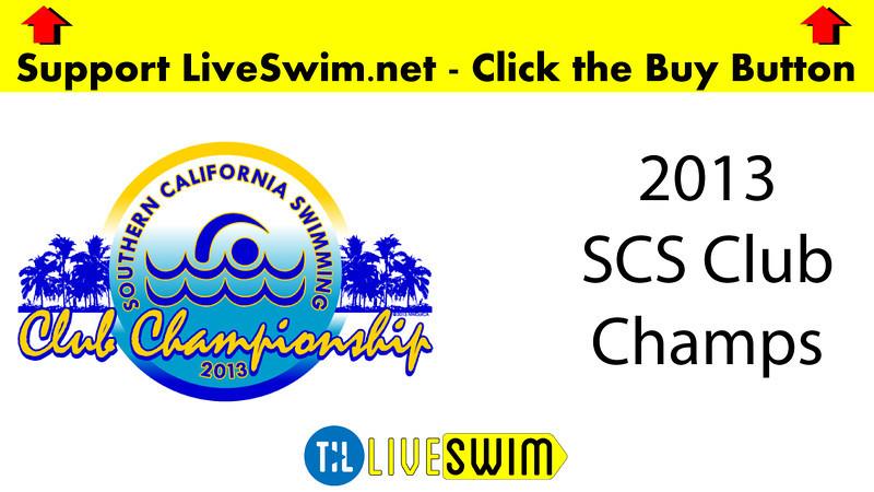 Men's 400 Medley Heat Final A - 2013 - SCS Club Championship