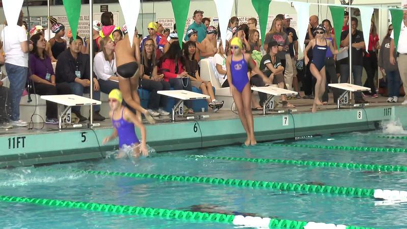 Women's 50 Backstroke Heat 01 - 2013 - SCS Club Championship