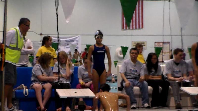 Women's 100 Butterfly Heat Final A- 2013 - SCS Club Championship