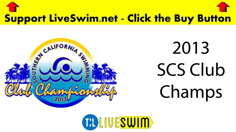 Women's 200 Medley Heat 01 - 2013 - SCS Club Championship