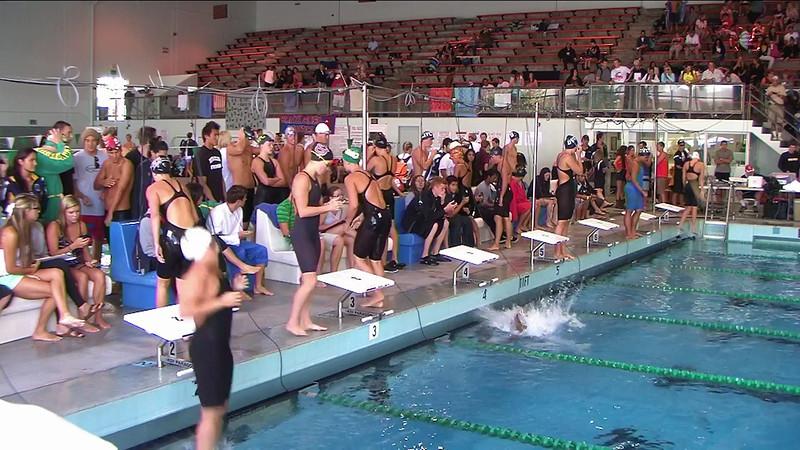 Women's 50yd Backstroke Heat 3