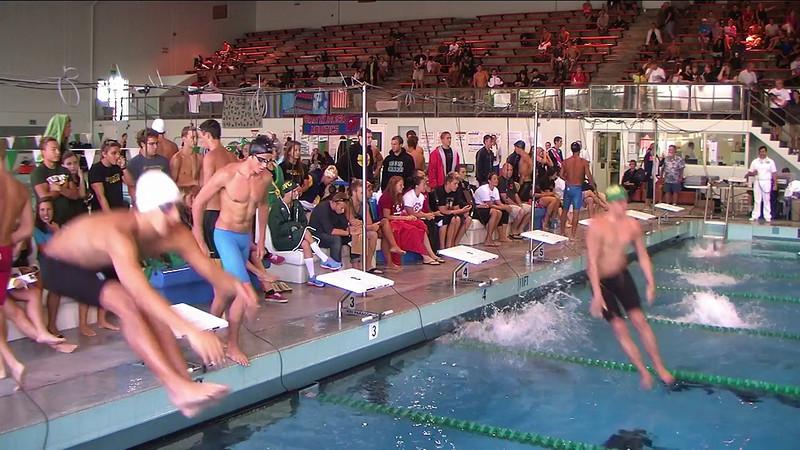 Men's 200yd Backstroke Heat 3