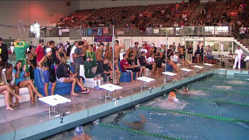 Women's 100yd Backstroke Heat 3