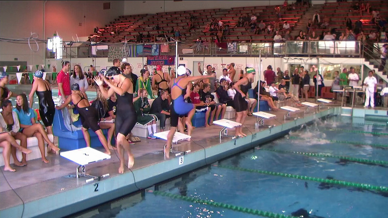 Women's 100yd Backstroke Heat 2