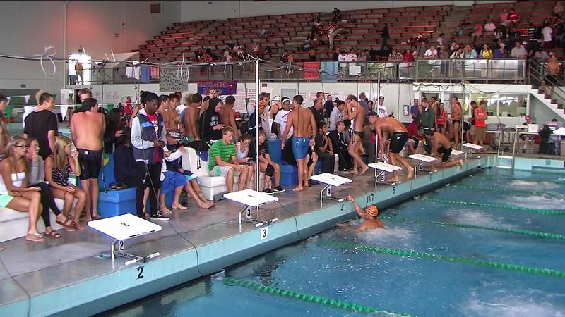 Men's 100yd Backstroke Heat 3