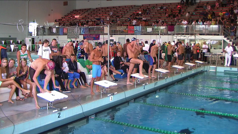 Men's 100yd Breaststroke Heat 2
