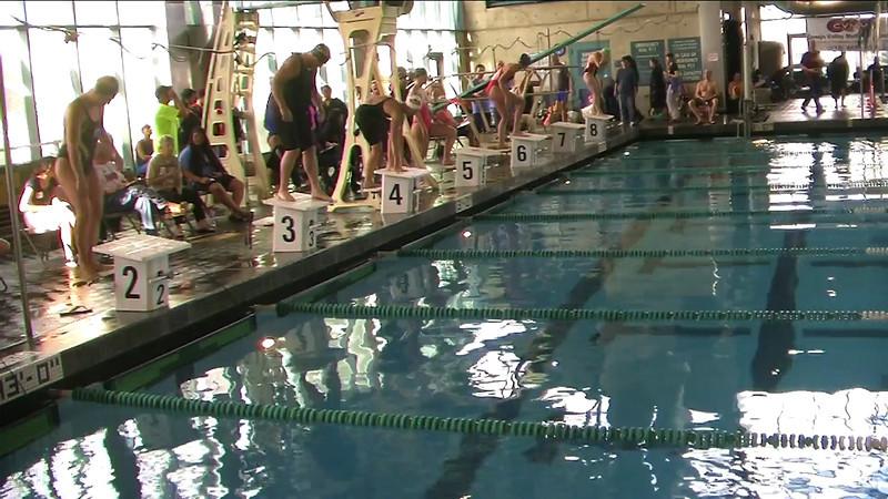 Women's 200 m Breaststroke Heat 3 - 2013 SPMS Regional Championships, Commerce, Ca