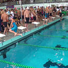 Men's 400 Medley Relay Heat 1 - 2014 CCCA Swimming and Diving State Championships