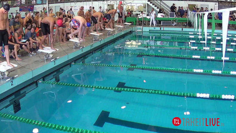 Men's 100 Breaststroke Heat 2 - 2014 CCCA Swimming and Diving State Championships