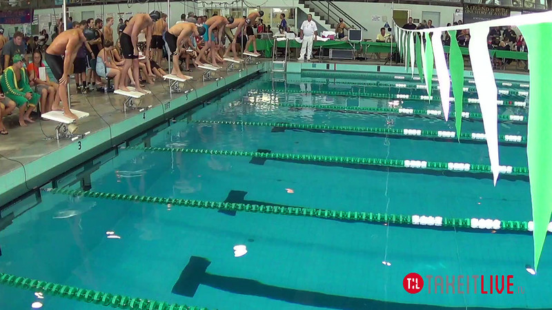 Men's 200 Freestyle B Final - 2014 CCCA Swimming and Diving State Championships