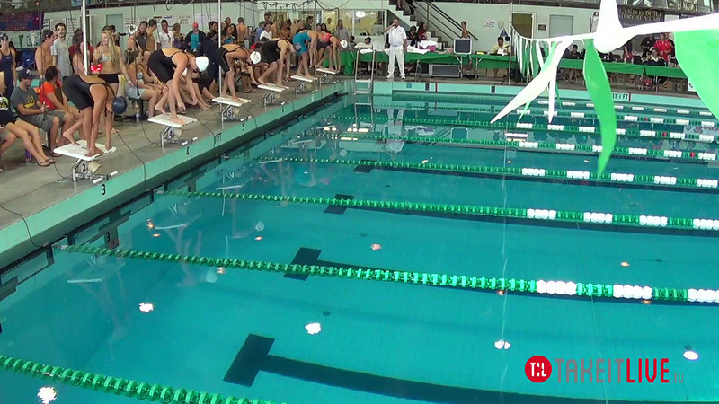 Women's 200 Freestyle B Final - 2014 CCCA Swimming and Diving State Championships